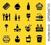 food filled set of vector icons ... | Shutterstock .eps vector #1093068710