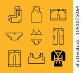 clothes filled set of vector... | Shutterstock .eps vector #1093075064