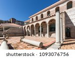 ruins of episcopal complex with ... | Shutterstock . vector #1093076756