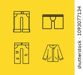 clothes filled set of vector... | Shutterstock .eps vector #1093077134