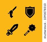 weapons filled set of vector... | Shutterstock .eps vector #1093078310