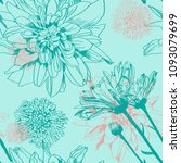 vector seamless chrysanthemum... | Shutterstock .eps vector #1093079699