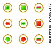 red and green switch icons set. ...
