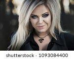 beautiful girl. blonde girl in... | Shutterstock . vector #1093084400