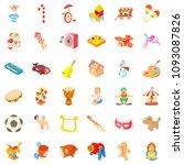 Children Park Icons Set....