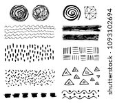 set of hand drawn grungy... | Shutterstock .eps vector #1093102694