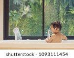 bath time  rear side of...   Shutterstock . vector #1093111454