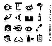 optometry icons   Shutterstock .eps vector #109311470