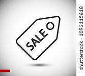 sale tag icon  stock vector... | Shutterstock .eps vector #1093115618