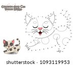 connect the dots and paint cute ... | Shutterstock .eps vector #1093119953