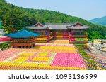 view of samgwangsa temple in...   Shutterstock . vector #1093136999