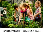 kids learning how to farm and... | Shutterstock . vector #1093154468
