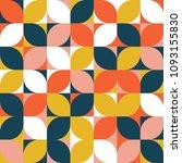 bauhaus pattern background... | Shutterstock .eps vector #1093155830
