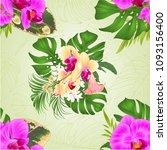 seamless texture bouquet with... | Shutterstock .eps vector #1093156400