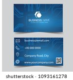 business card .banner blue... | Shutterstock .eps vector #1093161278