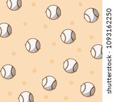 baseball sport balls background | Shutterstock .eps vector #1093162250