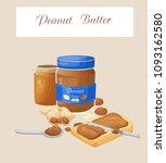 peanut butter  vector... | Shutterstock .eps vector #1093162580