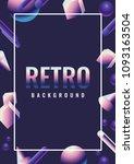 retro vector background. 80's... | Shutterstock .eps vector #1093163504
