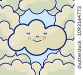 cute cloud cartoons | Shutterstock .eps vector #1093164773