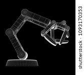 robotic arm manufacture... | Shutterstock .eps vector #1093170353