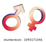 male female gender symbols...