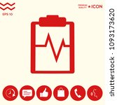 electrocardiogram icon symbol   Shutterstock .eps vector #1093173620