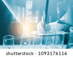 laboratory research and... | Shutterstock . vector #1093176116