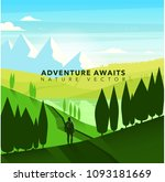nature for adventure | Shutterstock .eps vector #1093181669
