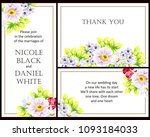 romantic invitation. wedding ... | Shutterstock .eps vector #1093184033