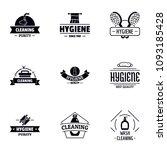 body hygiene logo set. simple...   Shutterstock .eps vector #1093185428