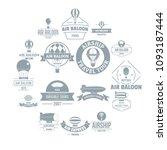 air balloon logo icons set.... | Shutterstock .eps vector #1093187444