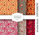seamless backgrounds set with... | Shutterstock .eps vector #1093188290