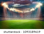 stadium in the lights and... | Shutterstock . vector #1093189619