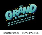vector of stylized modern font... | Shutterstock .eps vector #1093193618
