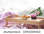 wooden tray with tasty... | Shutterstock . vector #1093204463