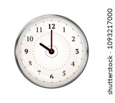 realistic clock face showing 10 ... | Shutterstock . vector #1093217000