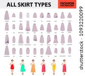 skirt vocabulary collections of ... | Shutterstock .eps vector #1093220099