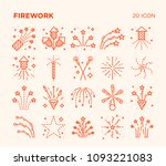simple set of firework. vector... | Shutterstock .eps vector #1093221083