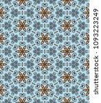 vector patchwork quilt pattern. ...   Shutterstock .eps vector #1093223249