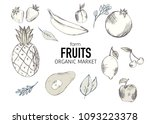 farm isolated fruits and... | Shutterstock .eps vector #1093223378