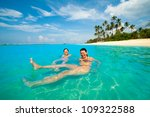 two women having fun in the... | Shutterstock . vector #109322588