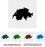 map of switzerland | Shutterstock .eps vector #1093226510