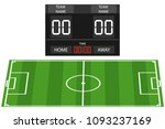 soccer field  soccer field with ... | Shutterstock .eps vector #1093237169