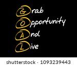 goal   grab opportunity and... | Shutterstock .eps vector #1093239443