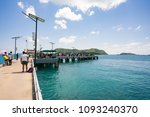 scenery sea  with light blue...   Shutterstock . vector #1093240370