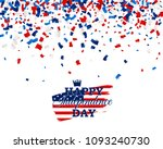 happy independence day vector... | Shutterstock .eps vector #1093240730