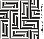 black and white zigzag pattern | Shutterstock .eps vector #109324229