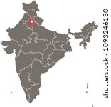 india map vector outline... | Shutterstock .eps vector #1093246130