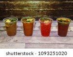 refreshing mocktails  colourful ... | Shutterstock . vector #1093251020
