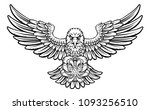an eagle angry animal sports...   Shutterstock . vector #1093256510